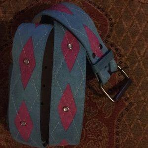 Pink and Blue belt